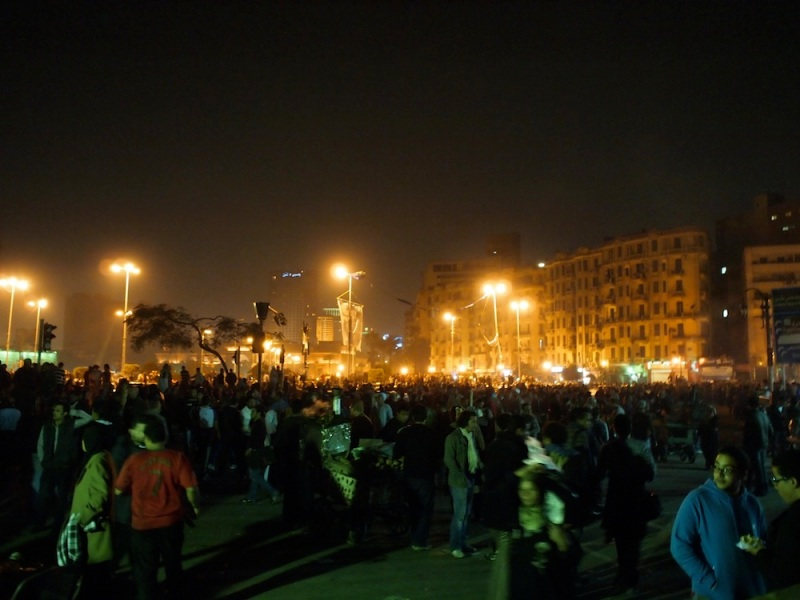 Tahrir Square Crowd